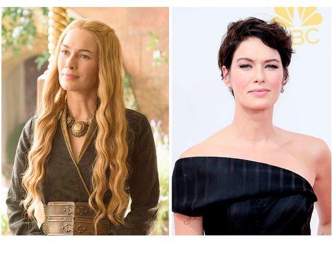 <p>Una bonita peluca en rubio dorado, además de un maquillaje suave en la gama del 'nude' y el rosa, convierte a la rockera Lena en una princesa de cuento de hadas con algo de mala leche.</p>