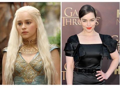 <p>El cambio es muy acusado en el caso de una de las grandes protagonistas de la serie, empezando, claro está, por el pelazo moreno que lleva en la vida real, donde luce una imagen mucho más sofisticada que la de la dulce Daenerys.</p>