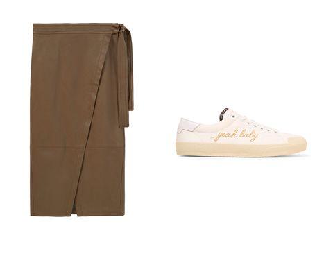 <p>Una de nuestras mezclas favoritas, la falda tipo 'paperbag' con sneakers.</p>