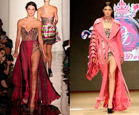 <p>En 2011 desfilando para Sherri Hill Primavera Verano 2012, y en el desfile de Dosso Dossi en junio en Turquía.</p><p>El ritmo actual de la carrera de Jenner es de locos. Además de desfilar para todas las grandes firmas, ahora puede sumar los contratos con Estée Lauder y Calvin Klein.</p>