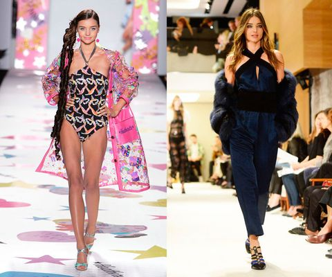 <p>En el desfile de Heatherette Otoño Invierno 2005, y en el de Sonia Rykiel Primavera Verano 2015 en septiembre del año pasado.</p><p>Hoy en día, Miranda Kerr es todo un nombre en la moda, pero con 21 años era sólo una jovencita que pasó de desfilar en Australia a hacerlo en Nueva York en 2004.</p>