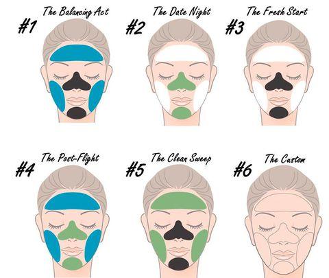 """<p>La idea de esta nueva tendencia es simple: emplear una mascarilla específica para cada parte del rostro. Por ejemplo: una de arcilla especial para poros en la 'zona t' combinada con una hidratante en las mejillas. O una iluminadora en el centro del rostro combinada con una ultrahidratante en las zonas más secas... Todo depende de las necesidades específicas de tu piel. (Foto: <a href=""""http://blog.boscia.com/2014/03/28/what-type-of-multi-masker-are-you/"""" target=""""_blank"""">Boscia</a>)</p>"""