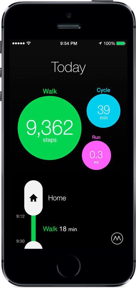 <p>Hay quien, simplemente, se plantea estar más activo a lo largo de todo el día (subir escaleras, andar...) Para esas personas, la aplicación <strong>Moves</strong> es la perfecta. Moves se ejecuta en segundo plano en tu móvil durante todo el día y registra toda tu actividad. Así, podrás contar todos los pasos dados en un día, podrás ver los recorridos... Y todo sin que tengas que hacer nada, solo llevar tu <i>smarthphone</i> contigo. <strong>Precio:</strong> Gratis. <strong>Disponibilidad:</strong> iOS y android.</p>