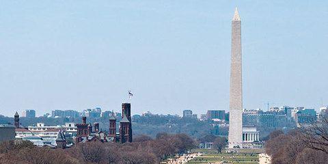 National Mall, una gran extensión que une el Capitolio con la Casa Blanca.