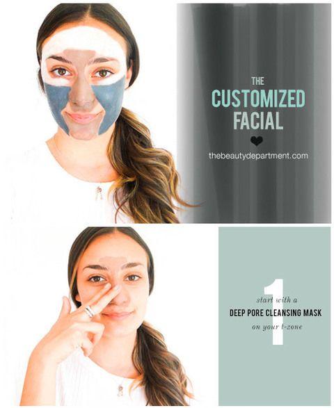 """<p>¿No sabes cómo combinar las mascarillas? Este tutorial de <a href=""""http://thebeautydepartment.com/2015/07/multi-masking-101/"""" target=""""_blank"""">The Beauty Department</a> puede ser un buen punto de partida: comienza con una mascarillas limpiadora de poros en la 'zona t' y aplica a continuación una mascarilla energizante en las mejillas. En la barbilla, utiliza la mascarilla de poros o una hidratante (según tu tipo de piel) y finaliza con una mascarilla oxigenante para revitalizar la zona del contorno de ojos.</p>"""