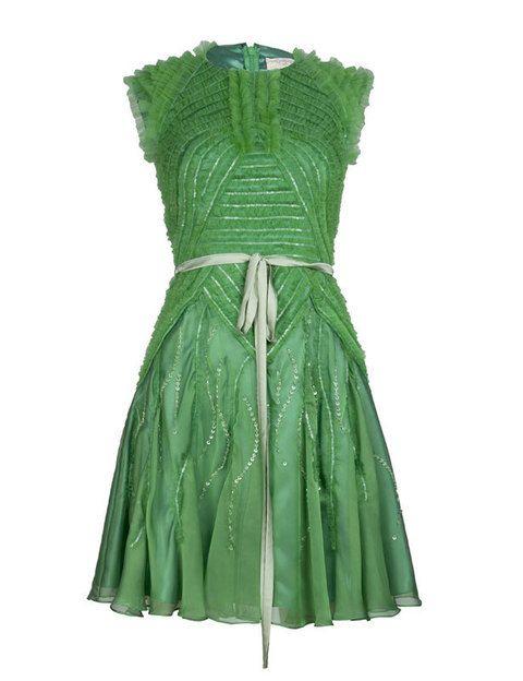 <p>Verde esmeralda de corte evasée <strong>(297€)</strong></p>