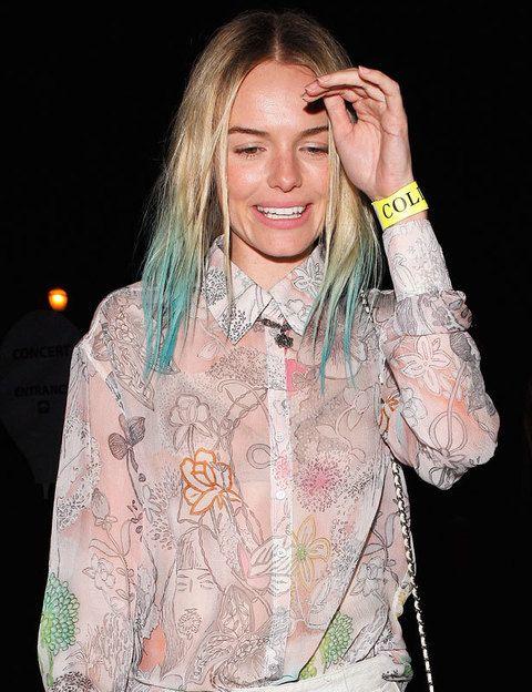 <p>Como buena <i>trendsetter</i> <strong>Kate Bosworth</strong> fue una de las primeras en teñir las puntas de su melena de turquesa. Esta técnica, conocida como <i>dip-dye</i>, es más sencilla en cabellos rubios como el suyo, ya que no necesitan decoloración previa.</p><p>&nbsp;</p>