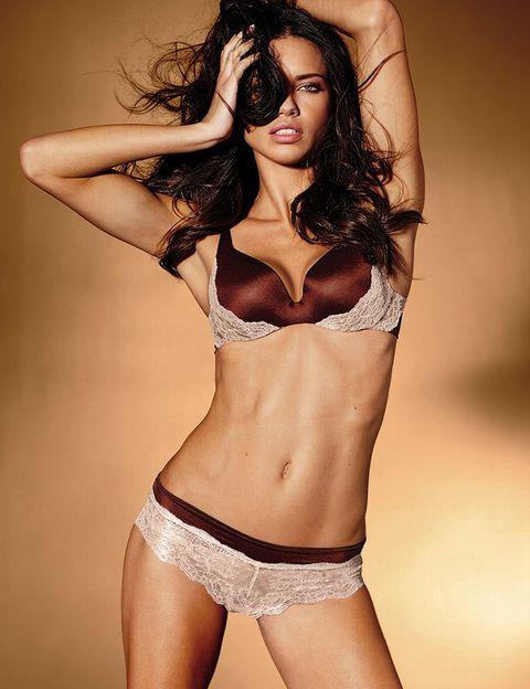<p>La top <strong>Adriana Lima </strong>se muestra muy salvaje con un diseño que combina encaje y seda en tonos tierra.</p>