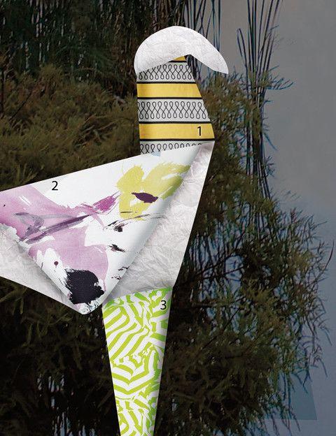 <p><strong>1.</strong> Algodónen amarillo y negro, modelo Diabolo, de 132 cm de ancho, 81,78 €/m, de No-bilis. </p><p><strong>2.</strong> Con manchas de colores pastel, modelo Brendel, de la colección Expressions, 100% algodón, de 280 cmde ancho, 65 €/m, de KA International. </p><p><strong>3.</strong> Con motivos en verde pistacho, diseñada por Riviera Chartreuse, de la colección Arles de Christian Lacroix para Designers Guild, de 137 cm de ancho, 82 €/m, en Usera Usera.</p>