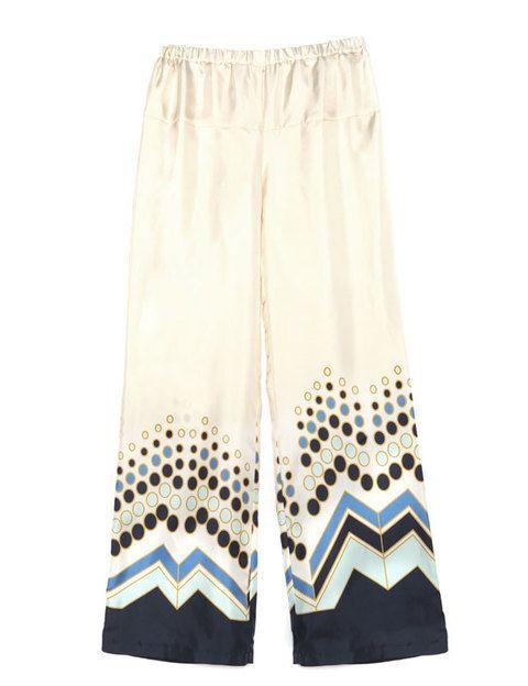 <p>Pantalón estampado de <strong>Virginie Castway</strong> (210 euros). ¿Con qué lo combinarías? </p>