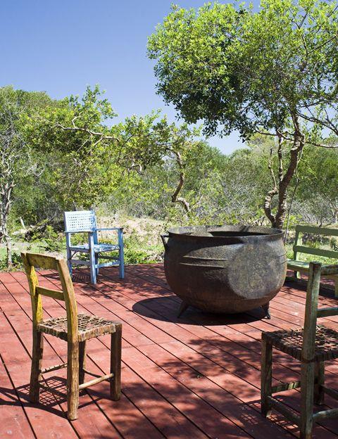 <p>La casa tiene muchos rincones como éste, concebidos especialmente para disfrutar del verano austral.</p>