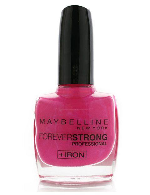 <p>Laca <i>Forever Strong </i>(8 €) de <strong>Maybelline</strong>. Perfecto para las que no soportan que la manicura se descascarille al segundo día: es realmente duradera.</p>