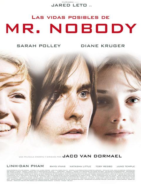 <p><strong>LAS VIDAS POSIBLES DE MR. NOBODY. </strong>Una original película, a caballo entre el drama y la ciencia ficción, que cuenta como sería la vida de un chico si se fuera a vivir con su padre, o con su madre, tras la separación de estos. Potente reparto con Jared Leto, Sarah Polley y Diane Kruger. <strong>Te gustará: </strong>Si te has planteado alguna vez si el destino está o no escrito. <strong>No la veas:</strong> Si te cuesta aguantar películas de más de dos horas de duración. Ésta las supera en 15 minutos.</p>