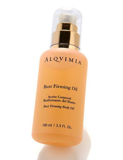 <p><i>Bust Firming Oil</i> (69 €), aceite reafirmante del busto de <strong>Alqvimia</strong>. Consigue realzar la piel del busto para un efecto tensor de hasta 2,2 cm: una auténtica alternativa a la cirugía.</p>