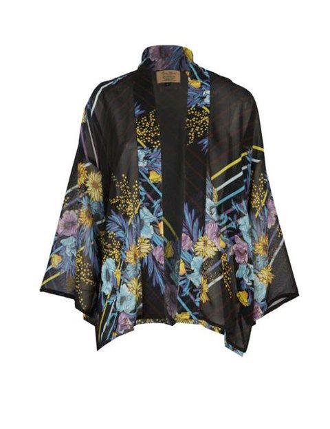 <p>Kimono estampado que dará un toque diferente a tu vestido, en los tonos del estampado o del propio kimono. <strong>De River Island.</strong></p>