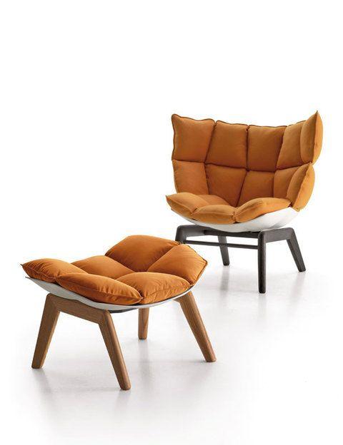 <p>Y hazte con Husk, este sillón con reposapiés a juego, de Patricia Urquiola para B&amp&#x3B;B Italia. Todoes reciclado.</p>