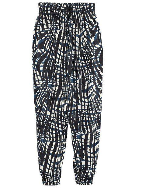 <p>Pantalones estilo harén de <strong>HyM</strong> de estampado navajo.</p>