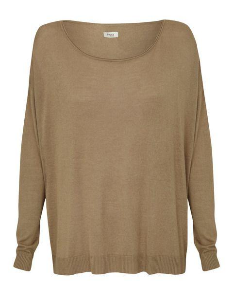<p>Jersey de punto &quot&#x3B;oversize&quot&#x3B; en color camel en punto de <strong>Hoss Intropia</strong></p>