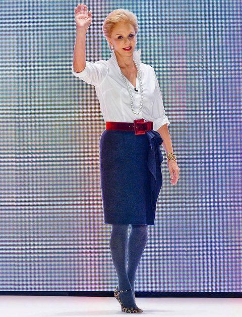 <p><strong>La correcta:</strong> siempre educada, formal y clásica<strong> Carolina Herrera</strong> con un saludo lleno de aplomo, seguridad y saber estar.</p>