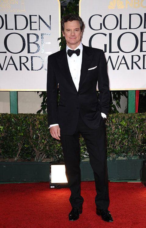 <p>El año pasado, <strong>Colin Firth</strong> fue uno de los grandes ganadores de 2011 con su premio al mejor actor por &quot;El discurso del rey&quot;. Este año, aunque sin nominación, posó así de elegante en la alfombra roja.</p>