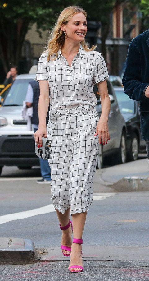 <p>Y si Rose Byrne triunfa en la alfombra roja, <strong>Diane Kruger</strong> lo hace con el mejor street style de la semana. La actriz fusiona mejor que nadie low cost con grandes firmas con este cojunto de camisa y 'culottes' de cuadros en blanco y negro de<strong> Forever 21</strong> más sandalias rosa flúor al tobillo de <strong>Nicholas Kirkwood</strong>.</p><p></p>