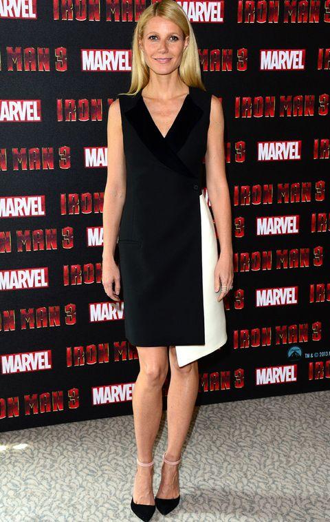 <p>Sobresaliente su <strong>Christian Dior Pre-Fall 2013</strong> en el photocall de <i>'Iron Man 3'</i> en Londres. Nos gustó su vestido black&amp;white tipo tuxedo cruzado y asimétrico. Sin apenas joyas y con el pelo suelto, premiamos su minimalismo.</p>