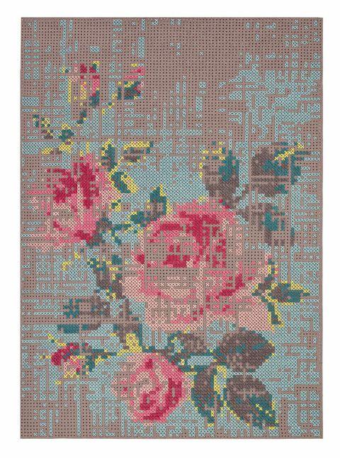 <p>La alfombra Canevas flowers, de Gan, por su singular mix de materiales: lana y fieltro.</p>