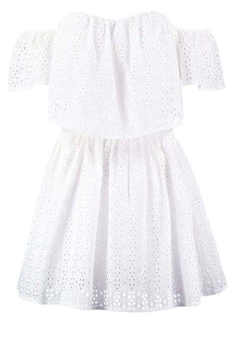 "<p>Vestido de guipur blanco, de <a href=""http://rstyle.me/~8xrKI%20"" target=""_blank"">Guess</a> (90,95 euros).</p>"
