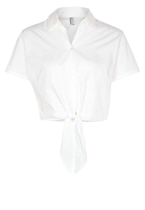 "<p>Camisa de manga corta y nudo, de <a href=""http://rstyle.me/~8tmrR"" target=""_blank"">American Apparel</a>, 31,95 euros.</p>"