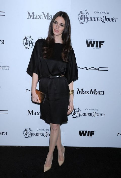 <p>La actriz española <strong>Paz Vega</strong> con un look total black en la fiesta Women In Film.</p>