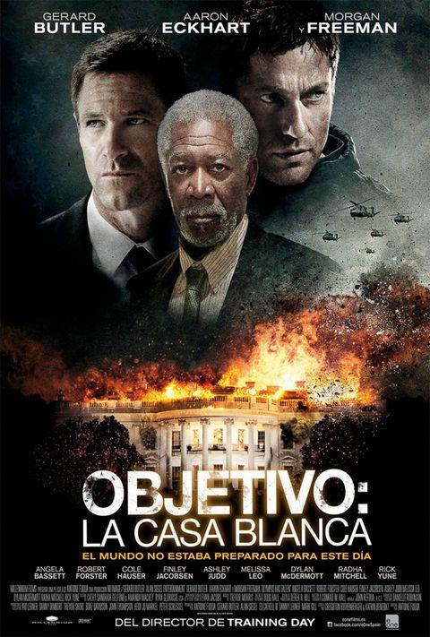<p>Gerard Butler, Aaron Eckhart y Morgan Freeman son el trío protagonista de esta película de acción, en el que un grupo terrorista consigue hacerse con la Casa Blanca y tomar como rehenes al Presidente y a parte de su equipo. Pero un antiguo guardaespaldas (Butler) logra abrirse paso hasta el interior del edificio, convirtiéndose en una de las pocas esperanzas de que el Presidente pueda salvar su vida.</p>