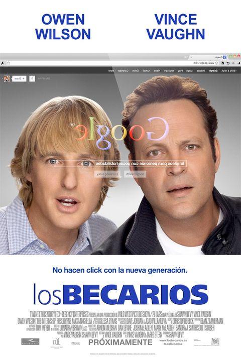 <p>Owen Wilson y Vicent Vaughn son dos amigos cuarentones en paro. Dispuestos a arreglar su situación y empezar de nuevo desde lo más bajo, no se les ocurre otra cosa que empezar a trabajar en Google… como becarios. </p>
