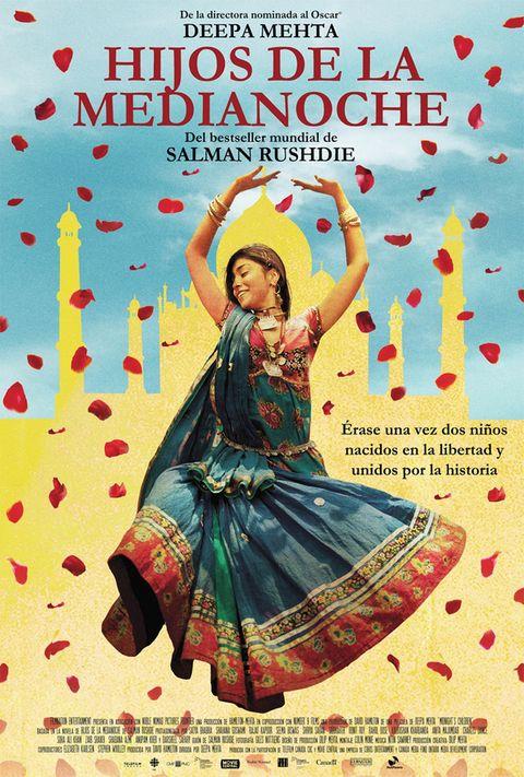 <p>El 15 de agosto de 1947, la India se independizó de Gran Bretaña. Ese mismo día, a las 12 de la noche, dos bebés de clases sociales opuestas son intercambiados por su comadrona en un gesto revolucionario: el bebé pobre vivirá en una familia rica, y viceversa. La película está basada en una novela de Salman Rushdie y supone una excelente oportunidad para conocer la historia de una parte del mundo a la que, tradicionalmente, no le hemos prestado demasiada atención. Si decides verla, avisamos: dura dos horas y media.</p>