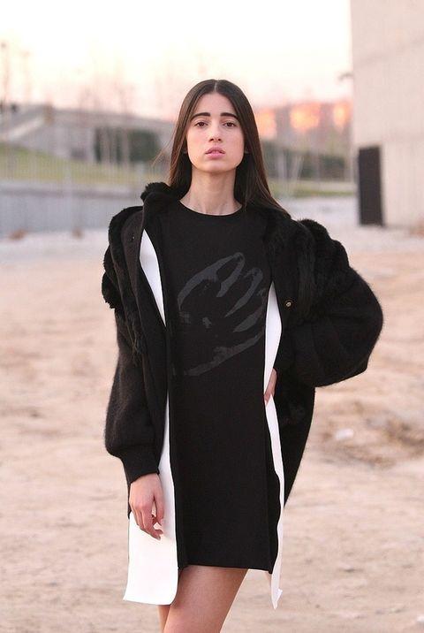 <p>Leya va a desfilar para la diseñadora Joana Ferreira. Este es el vestido que mostrará en la pasarela.&nbsp;</p>
