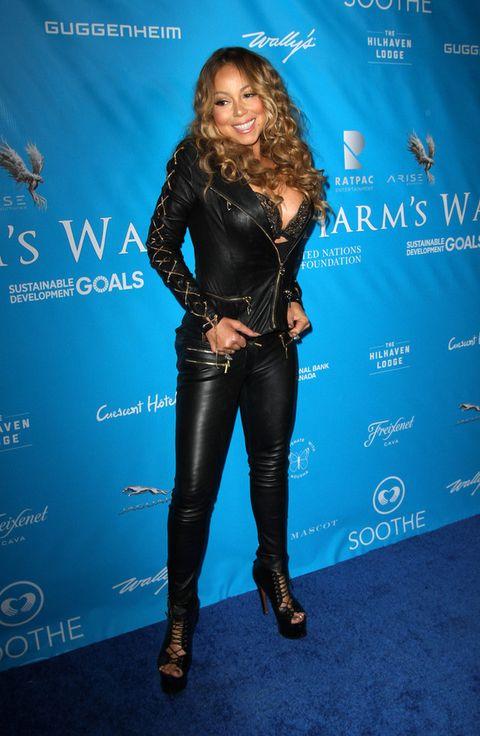 <p>Super ajustada, enfundado en cuero negro y mostrando su ropa interior. No había necesidad querida <strong>Mariah Carey</strong>.</p><p>&nbsp&#x3B;</p>