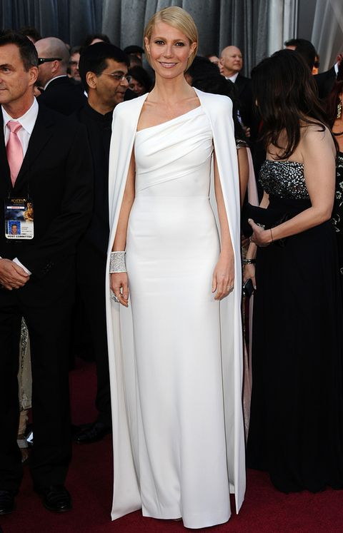<p>Gwyneth Paltrow triunfó con su Tom Ford blanco en los Oscar de 2012.</p>