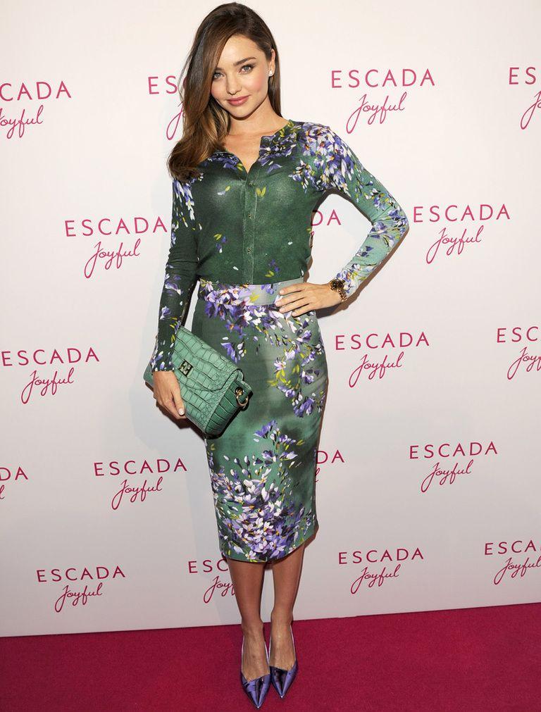 Miranda Kerr, belleza floral de Escada