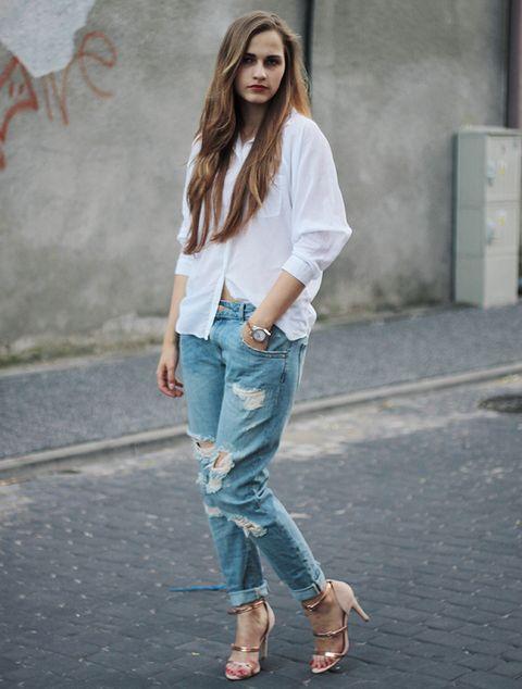 <p>&nbsp;Nuestra combinación ganadora es boyfriend y camisa oversize blanca.</p>