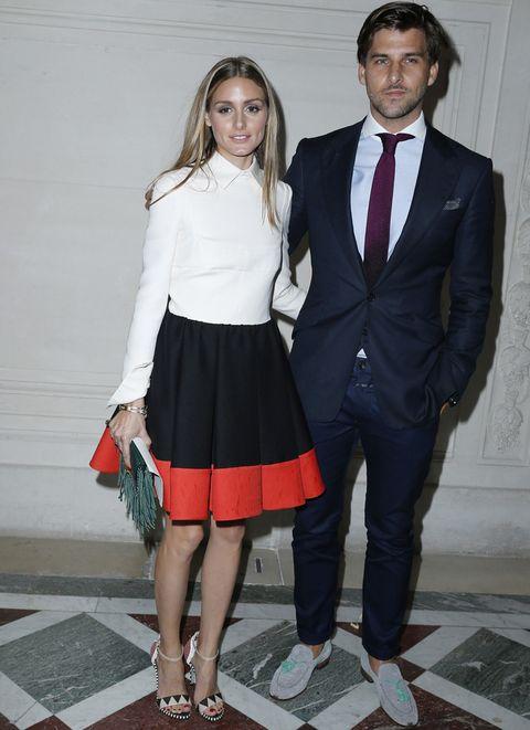 <p>Los recién casados<strong> Olivia Palermo y Johannes Huebl</strong> fueron el centro de atención en el desfile de Valentino.</p>