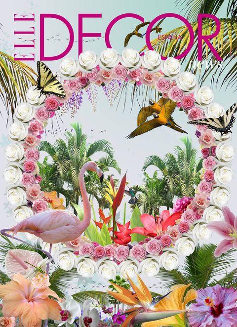 """<p>Flamencos, palmeras y paraísos, el artista <strong>Ramón Tormes</strong> ha creado este sueño especialmente para <strong>ELLE Decor</strong>, una metáfora de las nuevas deco tendencias: haz de tu casa un mundo feliz (<a href=""""https://www.facebook.com/ramontormescollages"""" target=""""_blank"""">www.ramontormes.com</a>).</p>"""