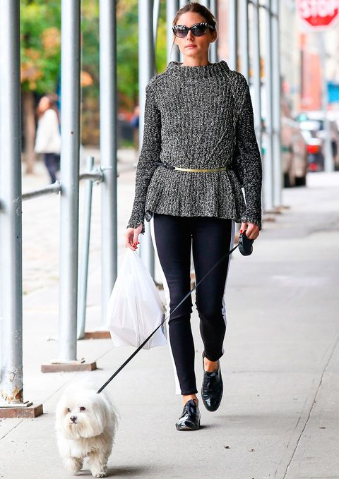 <p><strong>Olivia Palermo</strong> pasea con mucho estilo a su adorable mascota.</p>
