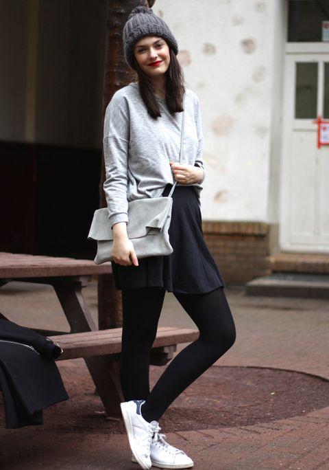 <p>Otro look que nos encanta por el mix de prendas y colores.</p>