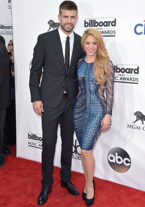 <p><strong>Shakira y Gerard Pique</strong> se convirtieron en los protagonistas de la alfombra roja al posar juntos y así de cariñosos.</p>
