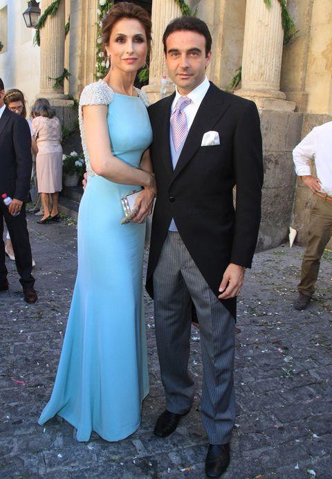como se visten las famosas de boda