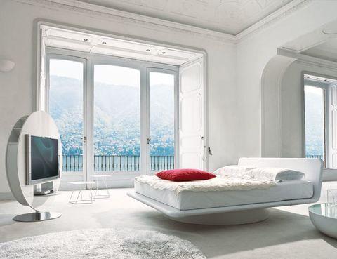<p>Es la cama Giotto, desde 2.709 €, de Bonaldo, en cuero o tela</p>