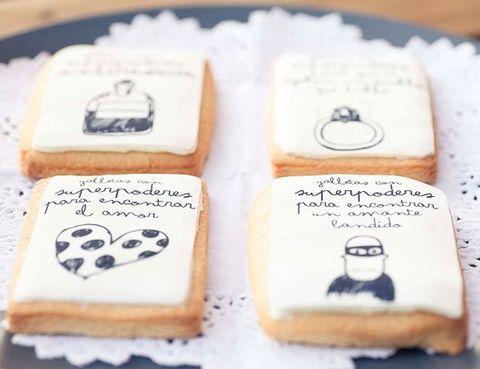 """<p>Gracias a las galletas con súper poderes de Mr Wonderful, también las tienen para encontrar el amor, o para que te regalen un anillo que brille, o si el día de San Valentín se tuerce mucho, con poderes antiresaca. Las galletas tienen un coste de 3,5 € por unidad (se venden en packs de 9, cada colección consta de 9 diseños distintos). Toda la información en su web <a href=""""http://cargocollective.com/mrwonderful/filter/galletas#1736168/GALLETAS-CON-SUPERPODERES"""" target=""""_blank"""">Mr Wonderful</a>.</p>"""