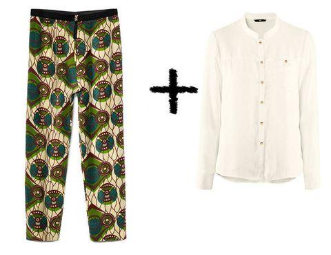 <p>Suma este pantalón estampado de<strong> Marni (79'90€)</strong> a esta camisa blanca con botones dorados de <strong>H&amp;M (9'95€).</strong></p>