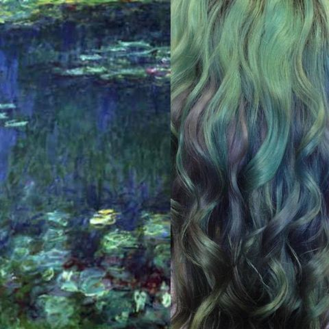 <p>&quot;Nenúfares&quot;, de Monet, una obra que la colorista versiona a base de tintes en tonos pastel.</p>
