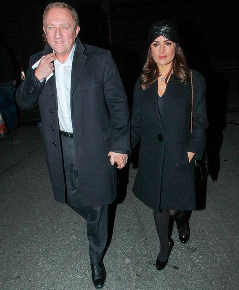 <p>De lo más elegantes el matrimonio formado por&nbsp;<strong>Salma Hayek y François-Henri Pinault</strong>. La actriz se atrevió con el turbante.&nbsp;</p>