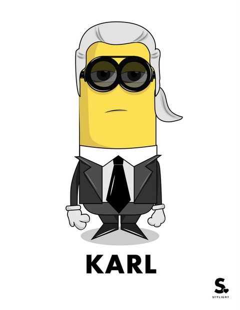 <p>Con su inconfundible outfit habitual, nos encanta el Minion <strong>Karl Lagerfeld</strong>.</p>